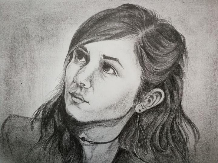 Pencil portrait of Waverly Earp - 9bVault