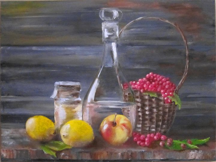 Fruits, Honey and Fruits-drink - Pangol Art