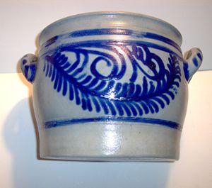 Vintage Salt Glazed Stoneware Crock - Art Kountry