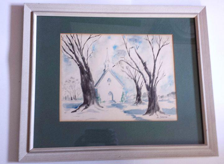Church in the Snow - Art Kountry