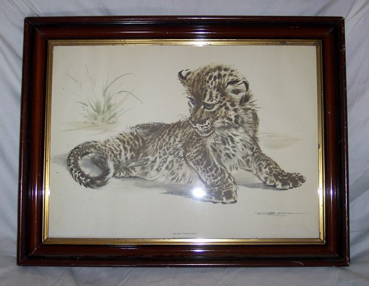 "Watercolor of Baby Leopard, 25 1/2"" - Art Kountry"