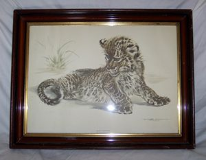 Watercolor of Baby Leopard, 25 1/2""