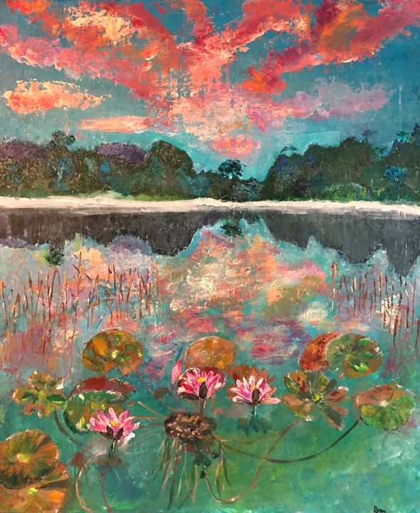 Lillies in reflection - BodySong Art