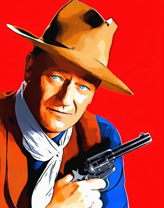 John Wayne in Rio Bravo - Art Cinema Gallery