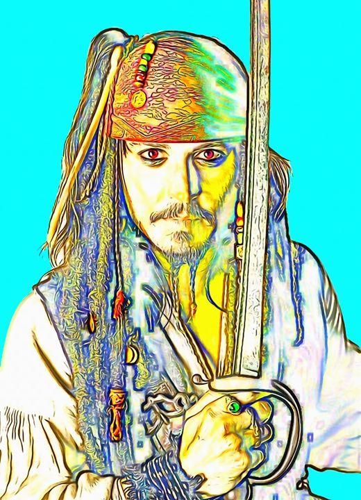 Johnny Depp_Pirates of the Caribbean - Art Cinema Gallery