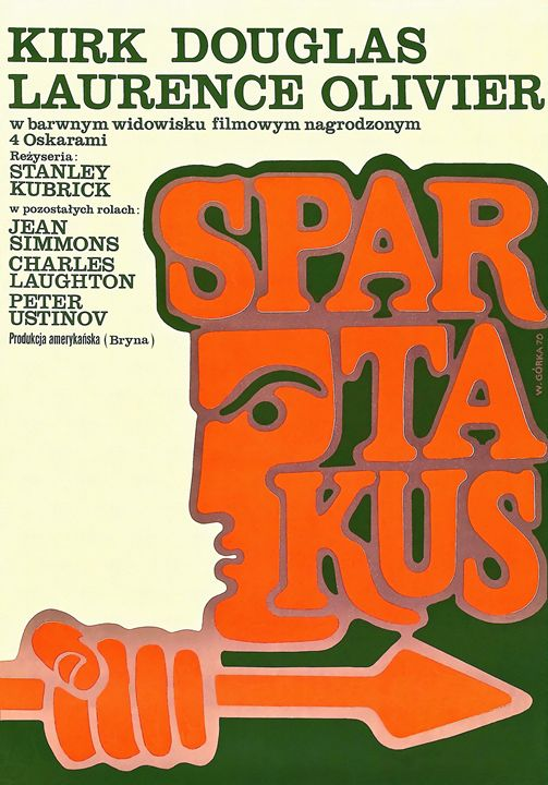 Polish Poster of Spartacus - Art Cinema Gallery
