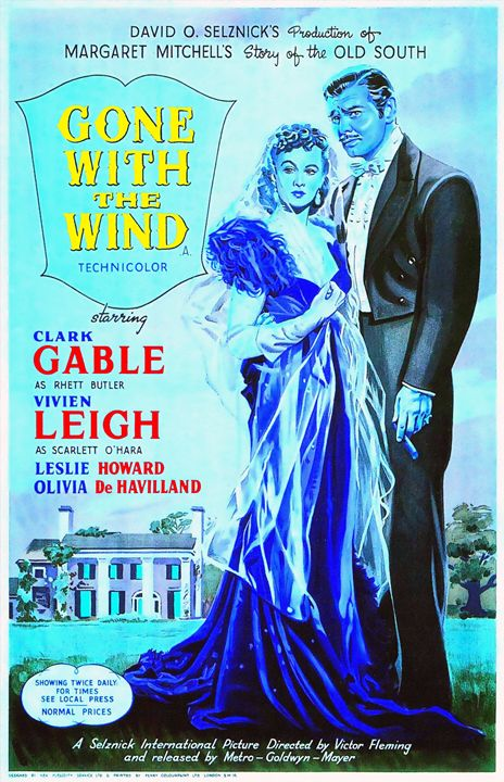 English poster of Gone with the Wind - Art Cinema Gallery