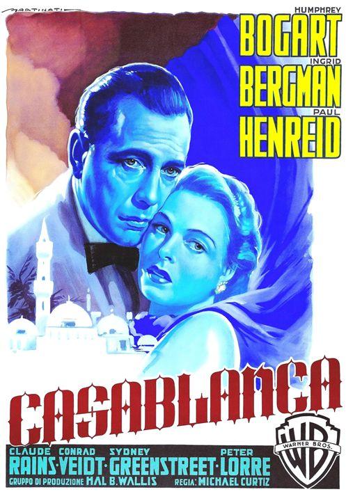 Italian poster of Casablanca - Art Cinema Gallery