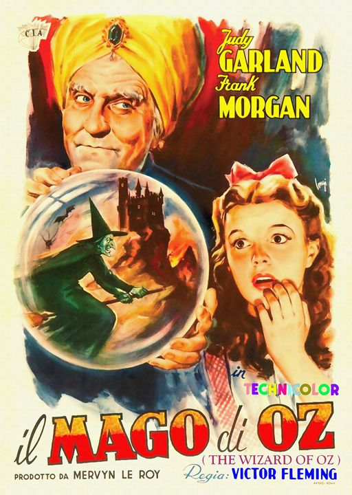 Italian poster of The Wizard of Oz - Art Cinema Gallery