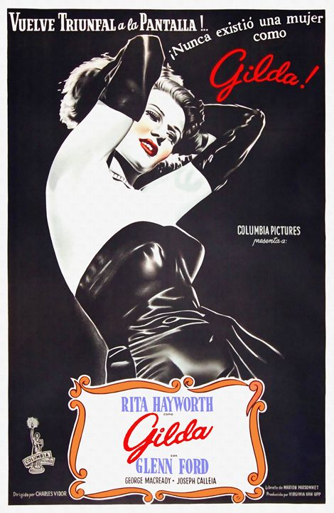 Argentinian poster of Gilda - Art Cinema Gallery