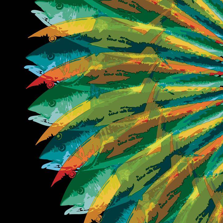 Fish Vortex, Radiant Square - Air California