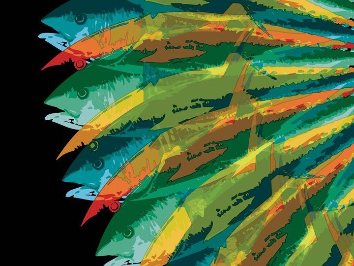 Fish Vortex, Radiant Short - Air California