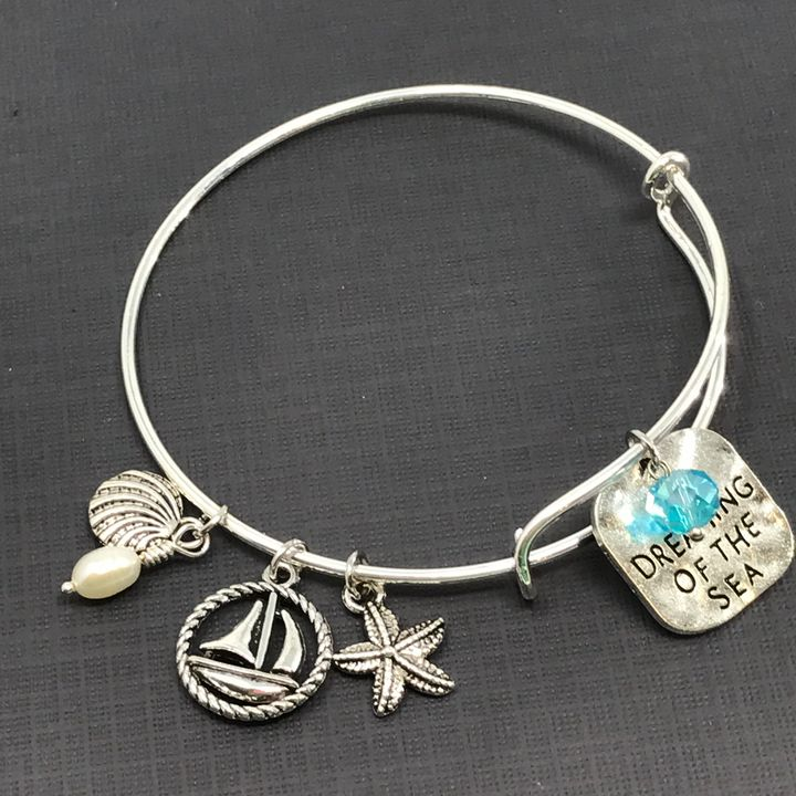 Dreaming of the Sea Bangle Bracelet - DebryndaDavey