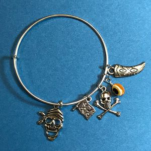 Pirate Adjustable Bangle Bracelet - DebryndaDavey