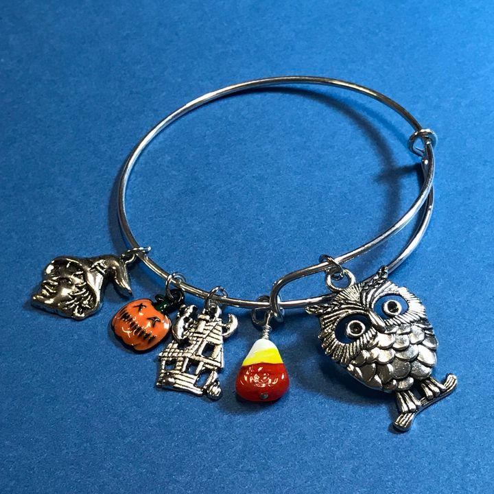 Halloween Owl Bangle Bracelet - DebryndaDavey