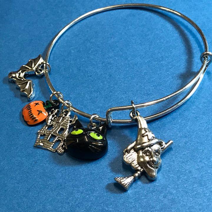 Halloween Witch Bangle Bracelet - DebryndaDavey