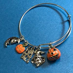 Pumpkin Halloween Bangle Bracelet - DebryndaDavey