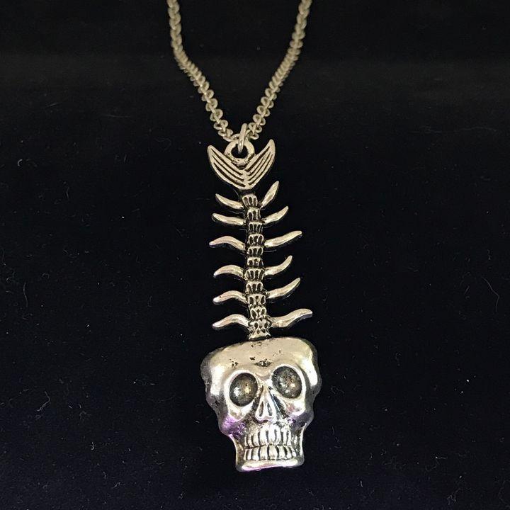Skull Fish Pendant Necklace - DebryndaDavey