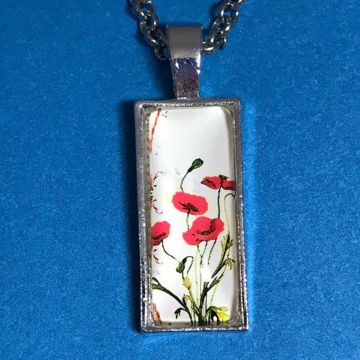 Poppy Rectangular Pendant Necklace - DebryndaDavey