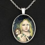Original Girl with Doll Necklace