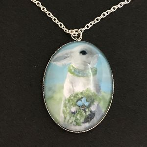 White Bunny Rabbit Necklace