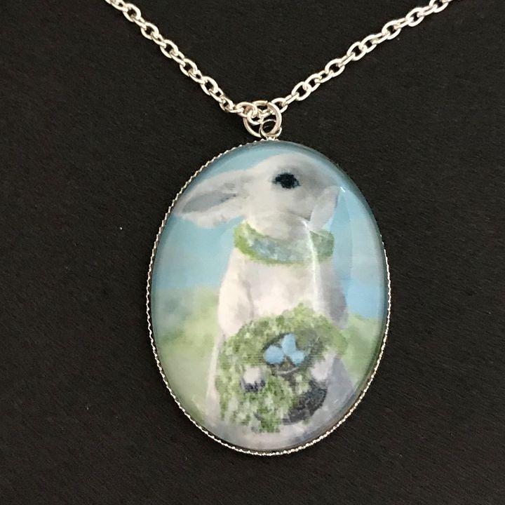 White Bunny Rabbit Necklace - DebryndaDavey
