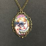 Original Girl Black Mask Necklace