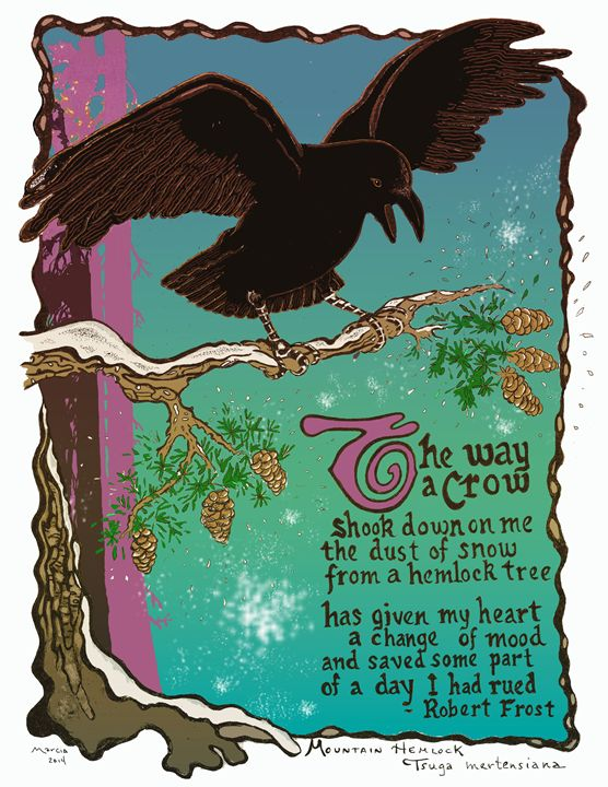 Crow Poem - Robert Frost - Marcia Morgan