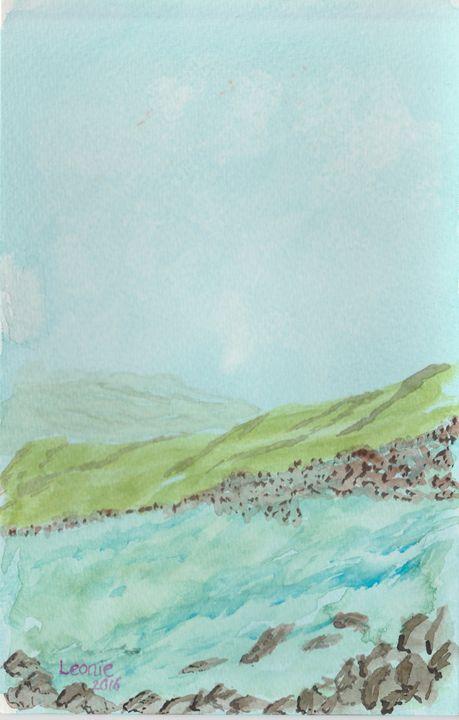 Rocky Shore - Leonie Overbeek - Art and Words