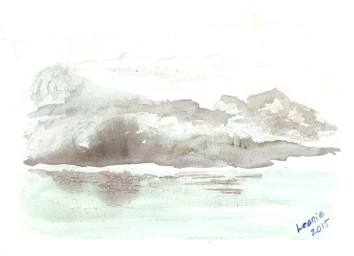 Winter Shore - Leonie Overbeek - Art and Words