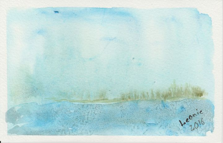 Misty Shore - Leonie Overbeek - Art and Words