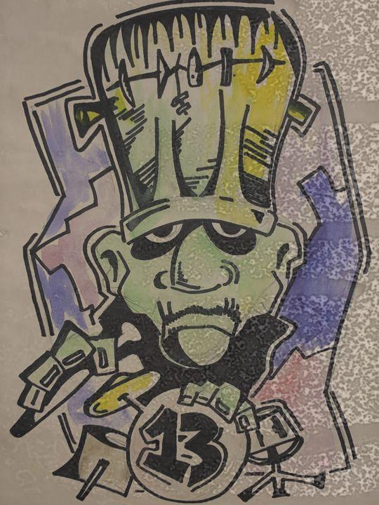 Franken-Drummer - Se7en's Art Gallery