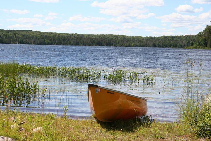Canoe on Mirage Lake - Carolyn reinhart