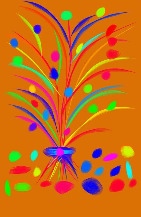 Flower Burst - A Splash of Paint