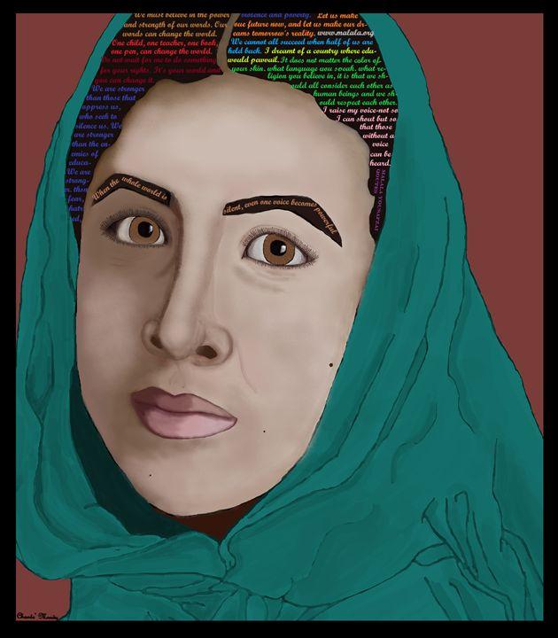Malala Yousafzai Portrait & Quotes - Chante Moody