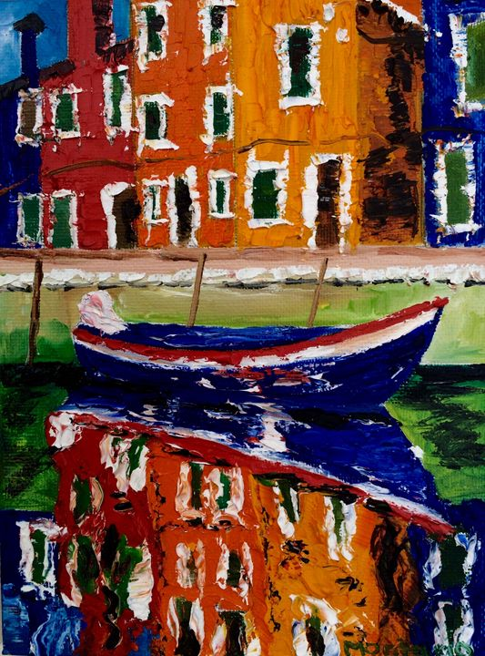 Burano boat - Inna Montano fine art