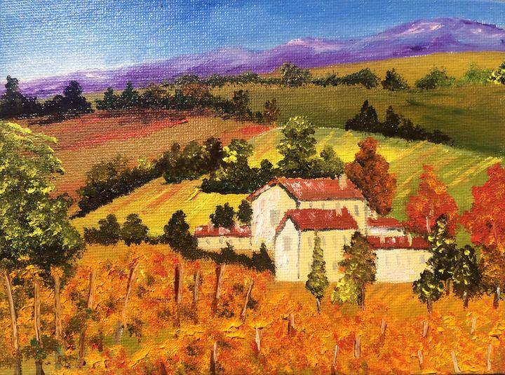 Tuscany vineyard - Inna Montano fine art