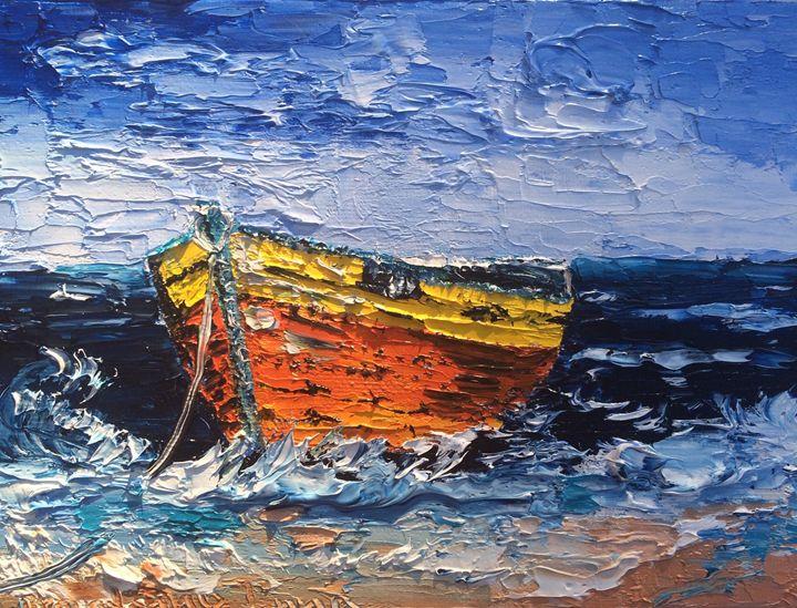 Boat in a ocean - Inna Montano fine art