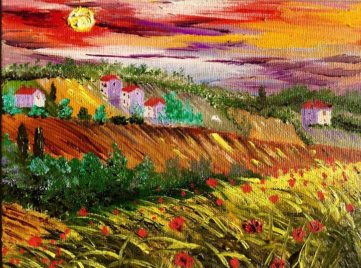 Tuscany poppies - Inna Montano fine art