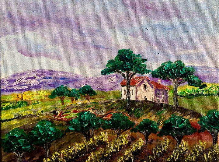 Tuscany vineyards - Inna Montano fine art