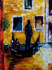 Venice gandolier