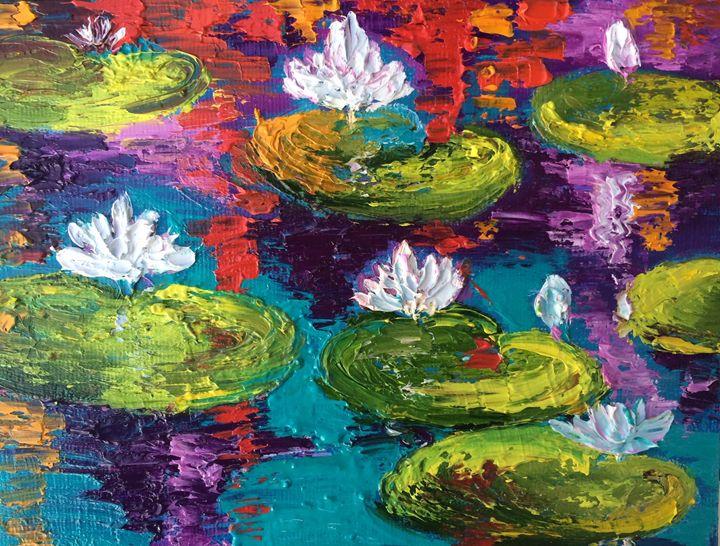 Lilies pond - Inna Montano fine art