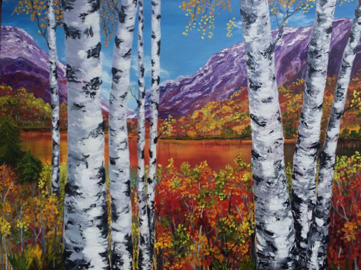 Autumn birches - Inna Montano fine art