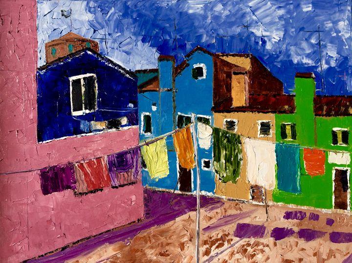 Burano colors - Inna Montano fine art