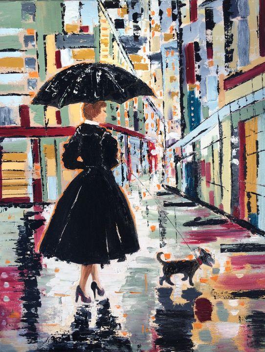 Girl with the umbrella - Inna Montano fine art