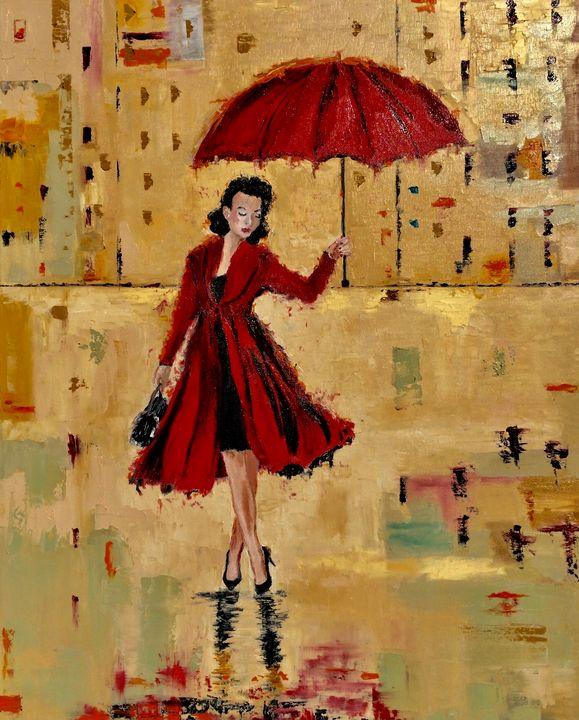 Red umbrella - Inna Montano fine art