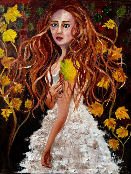 Autumn girl - Inna Montano fine art
