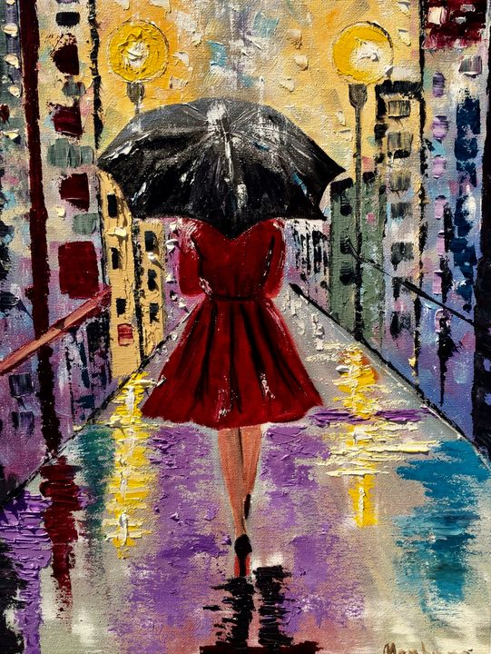 Girl with the umbrella - Inna Montano fine art