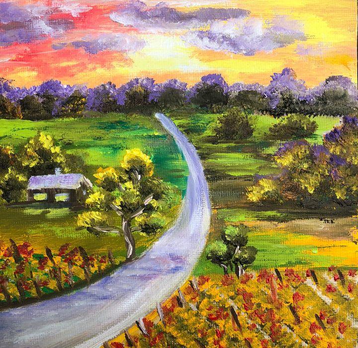 Autumn sunset - Inna Montano fine art