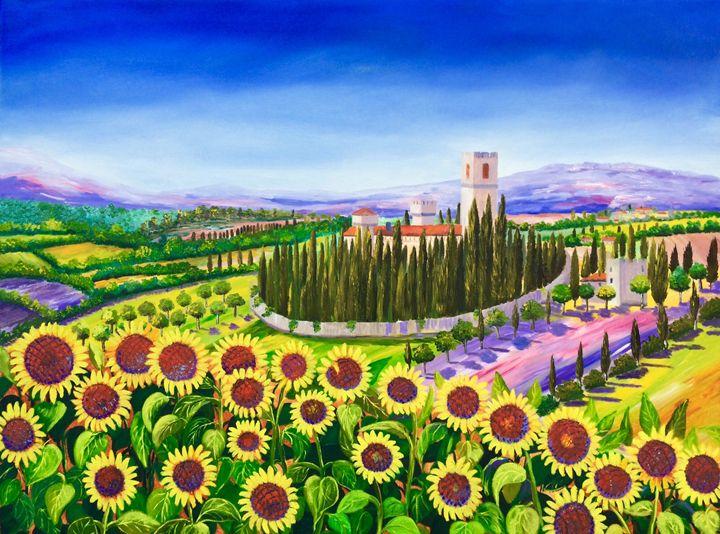 Tuscany SUNFLOWERS - Inna Montano fine art